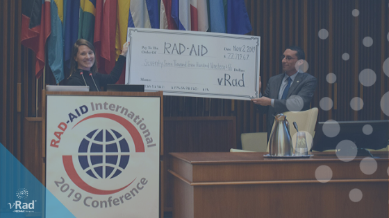 $77,000 to RAD-AID thanks to vRad radiologists and First Read Initiative